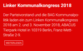 Banner LINKER Kommunalkongress 2018